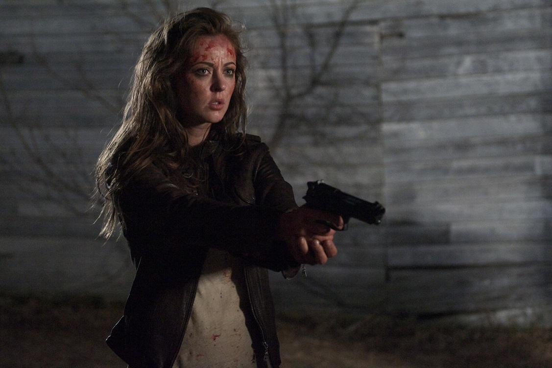 Katharine Isabelle faces zombies in 13 Eerie (2013)