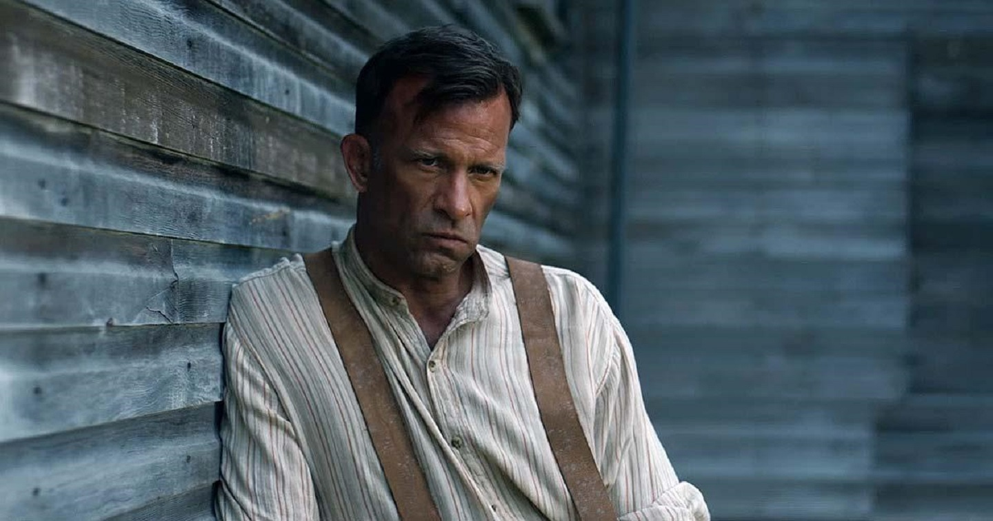 Wilfred James (Thomas Jane) broods with murderous intent in 1922 (2017)
