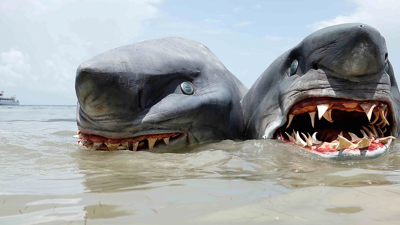 The two-headed shark in 2-Headed Shark Attack (2012)