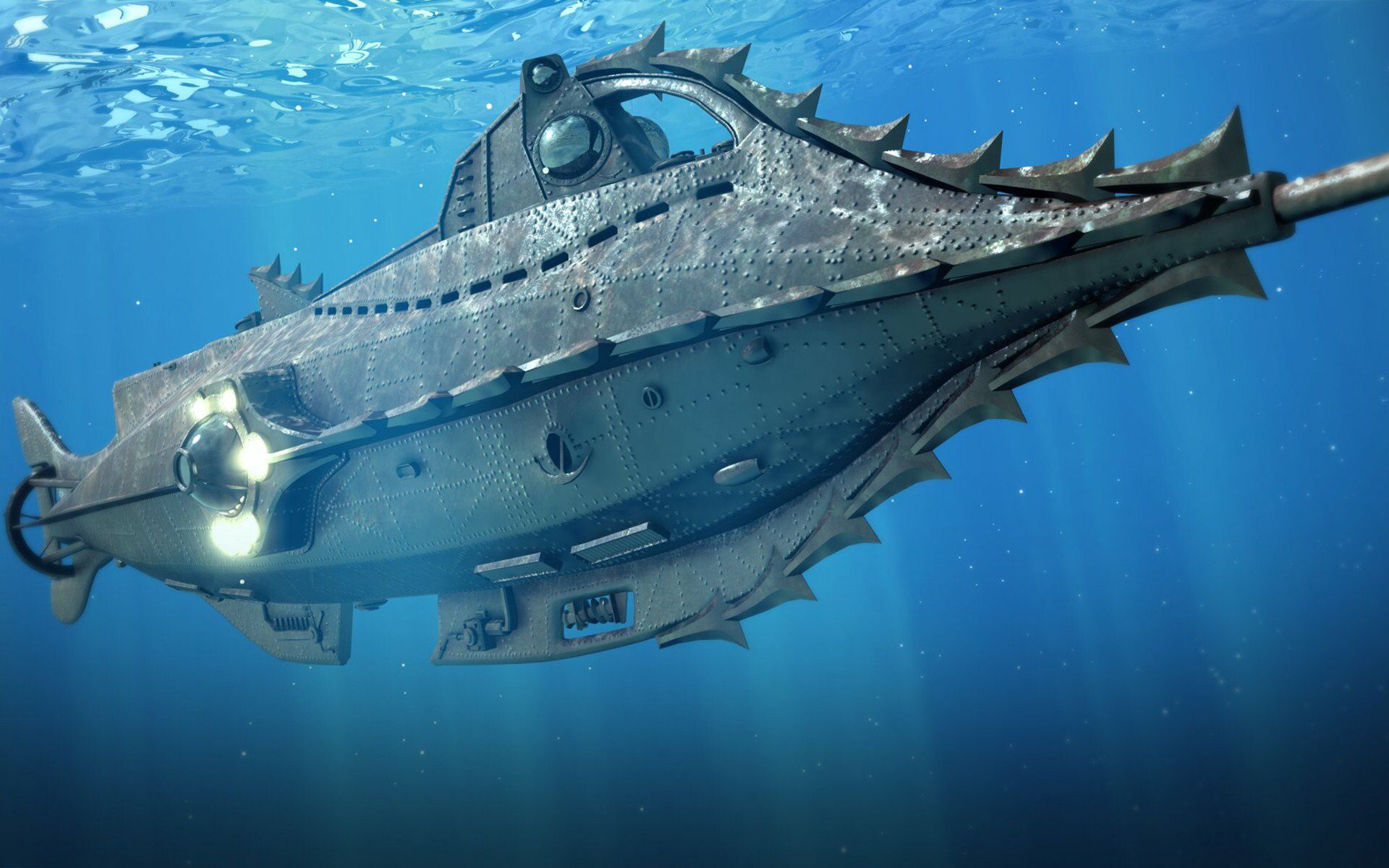 The Nautilus in 20,000 Leagues Under the Sea (1954)