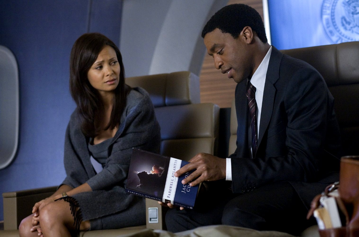 Thandie Newton with Chiwetel Ejiofor as the Obama stand-in in 2012 (2009)