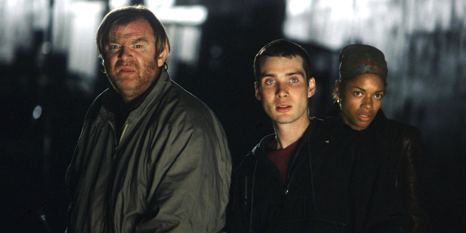 Brendan Gleeson, Cillian Murphy, Naomie Harris in 28 Days Later (2002)