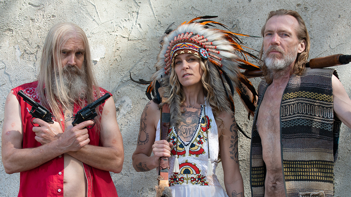 Return of the Firefly Gang - (l to r) Otis Driftwood (Bill Moseley), Baby (Sheri Moon Zombie) and Winslow Foxworth Coltrane (Richard Brake) in 3 from Hell (2019)
