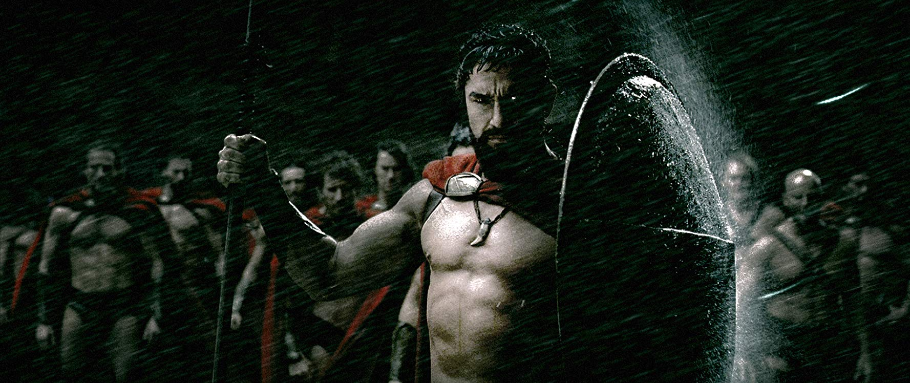 Gerard Butler leads the Spartans to war in 300 (2007)