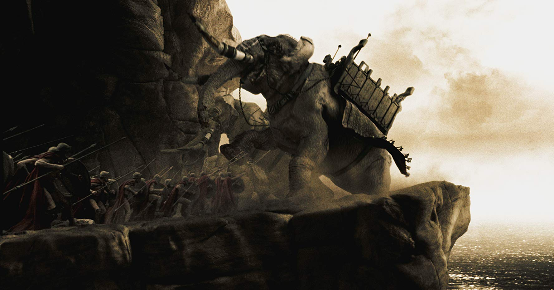 Battle elephants in 300 (2007)