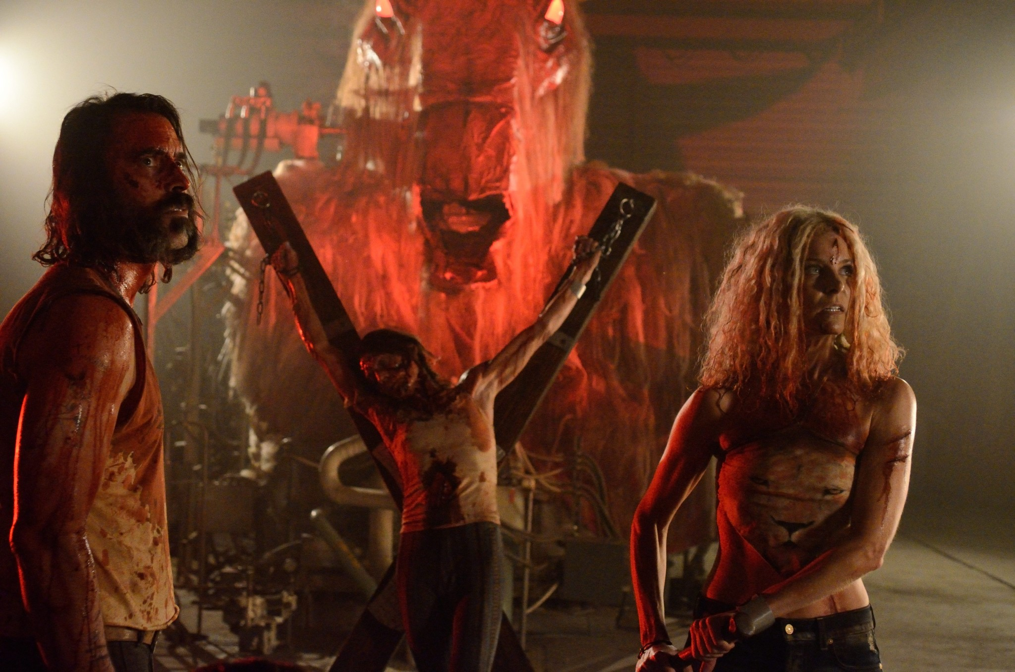 Jeff Daniel Phillips and Sheri Moon Zombie navigate the death maze in 31 (2016)