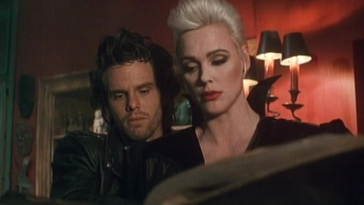 Patrick O'Bryan and Brigitte Nielsen in 976-Evil II (1991)