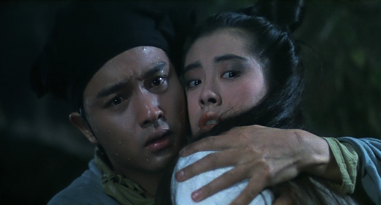 Leslie Cheung and Joey Wong in A Chinese Ghost Story (1987 )