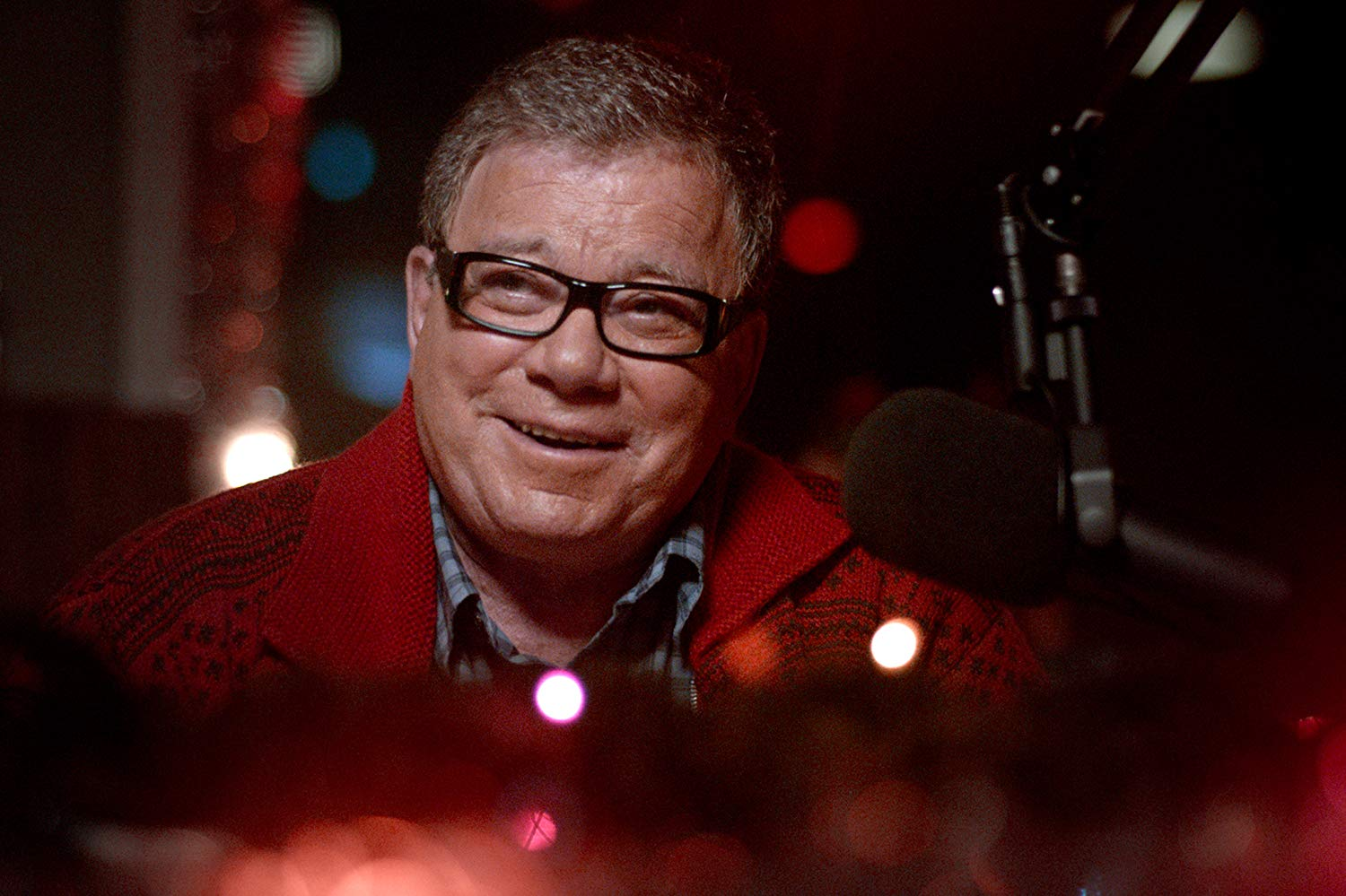 William Shatner as radio dj Dangerous Dan in A Christmas Horror Story (2015) poster