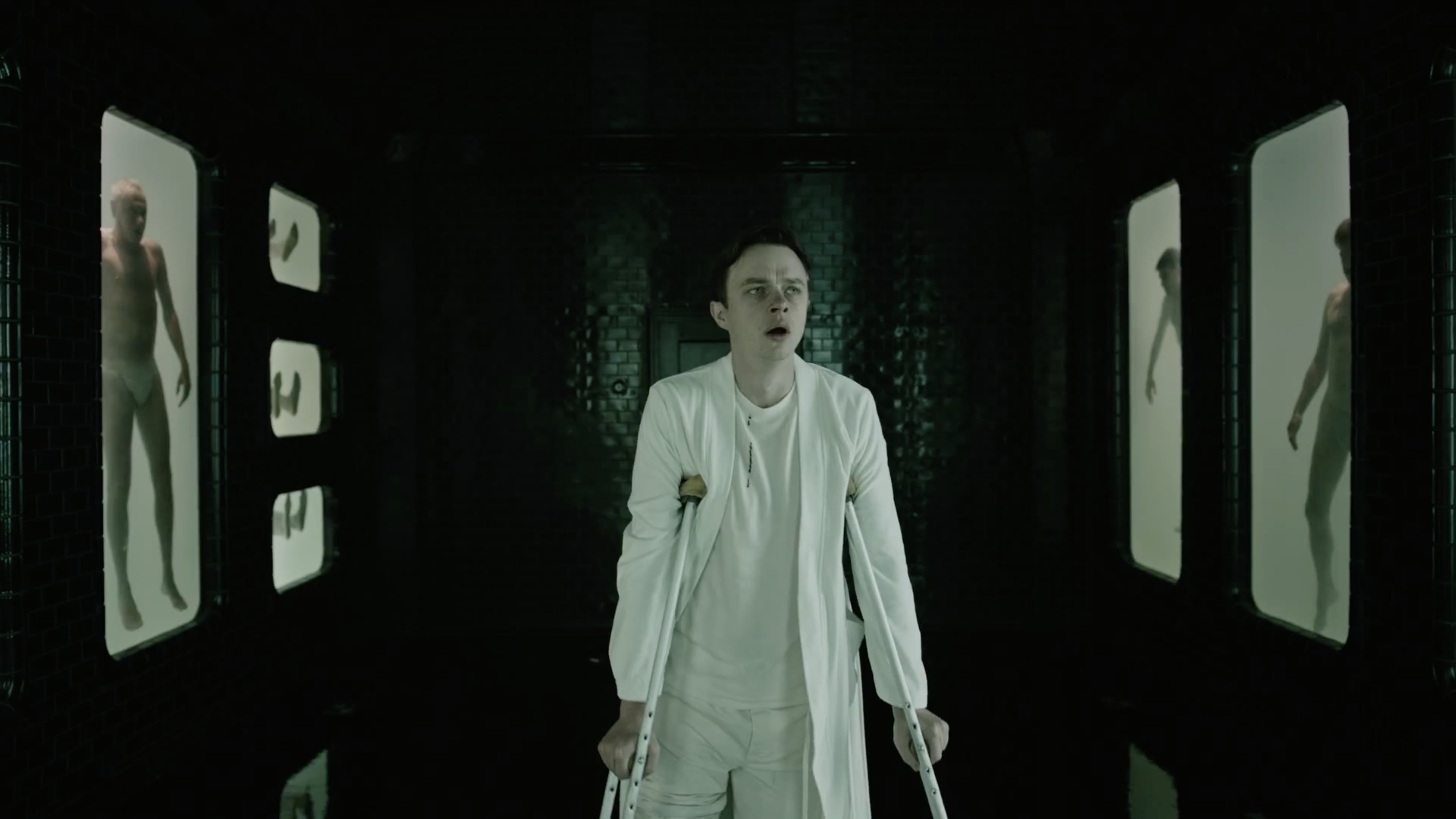 Dane DeHaan uncovers the experiments being at the institute in A Cure for Wellness (2016)