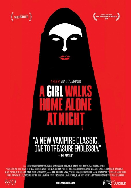 A Girl Walks Home Alone at Night (2014) poster