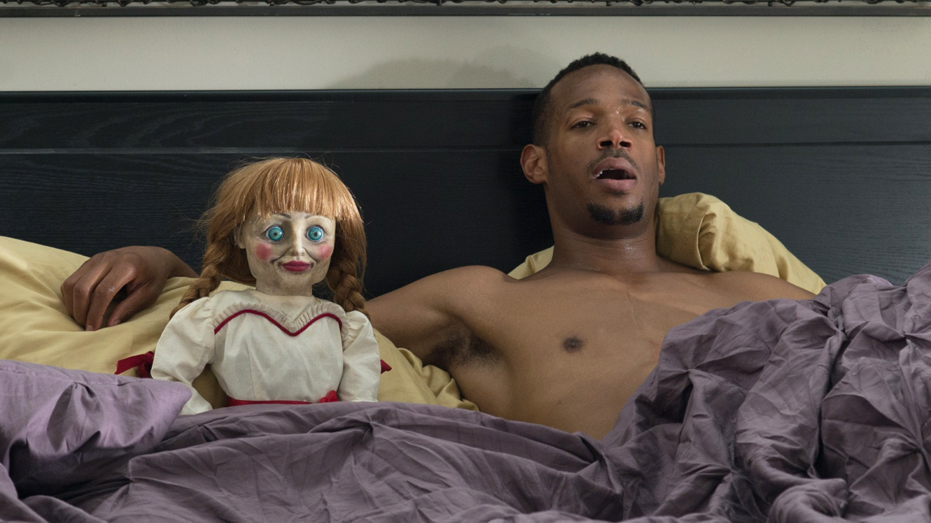 Marlon Wayans and the Abigail doll enjoy a moment of post-coital relaxation in A Haunted House 2 (2014)