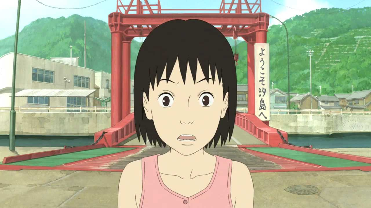 Momo arrives on Shio Island in A Letter to Momo (2011)