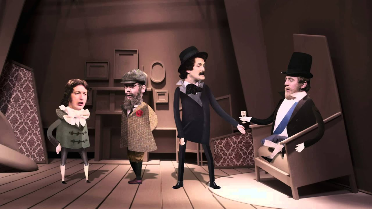 The Monty Python team rendered in cutout animation in A Liar's Autobiography: The Untrue Story of Monty Python's Graham Chapman (2012)