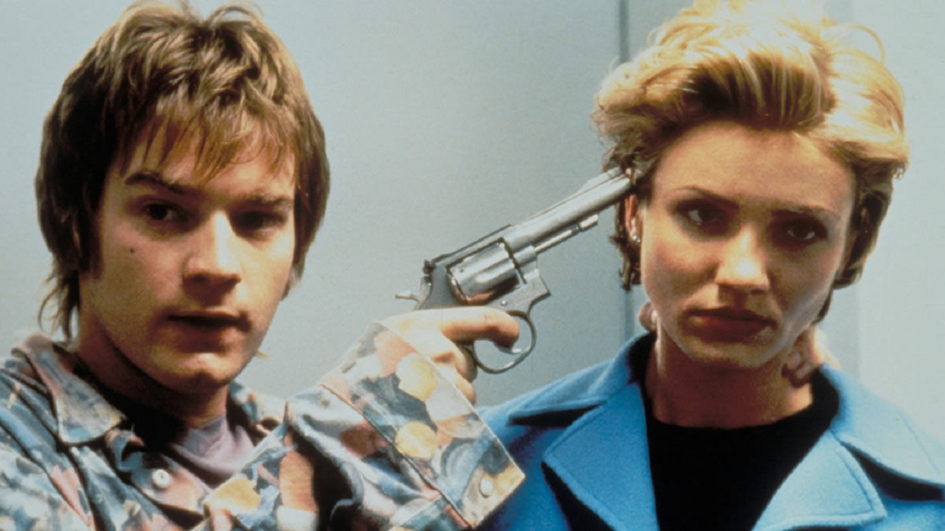 Inept kidnapper Ewan McGregor and his hostage Cameron Diaz in A Life Less Ordinary (1997)