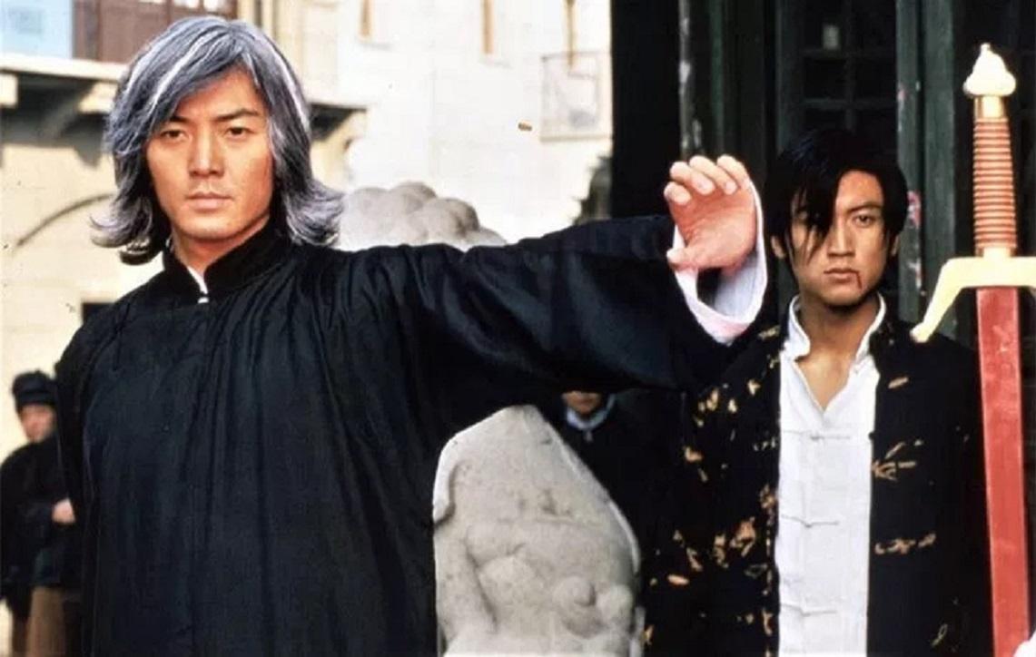 Ekin Cheng as Hero and son Nicholas Tse in A Man Called Hero (1999)