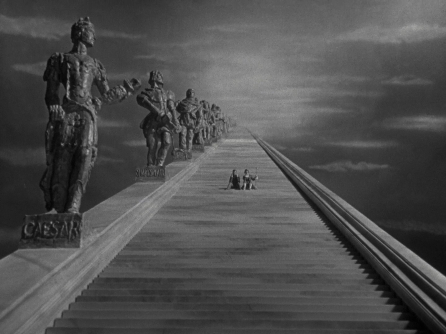 A stairway to heaven in A Matter of Life and Death (1946)