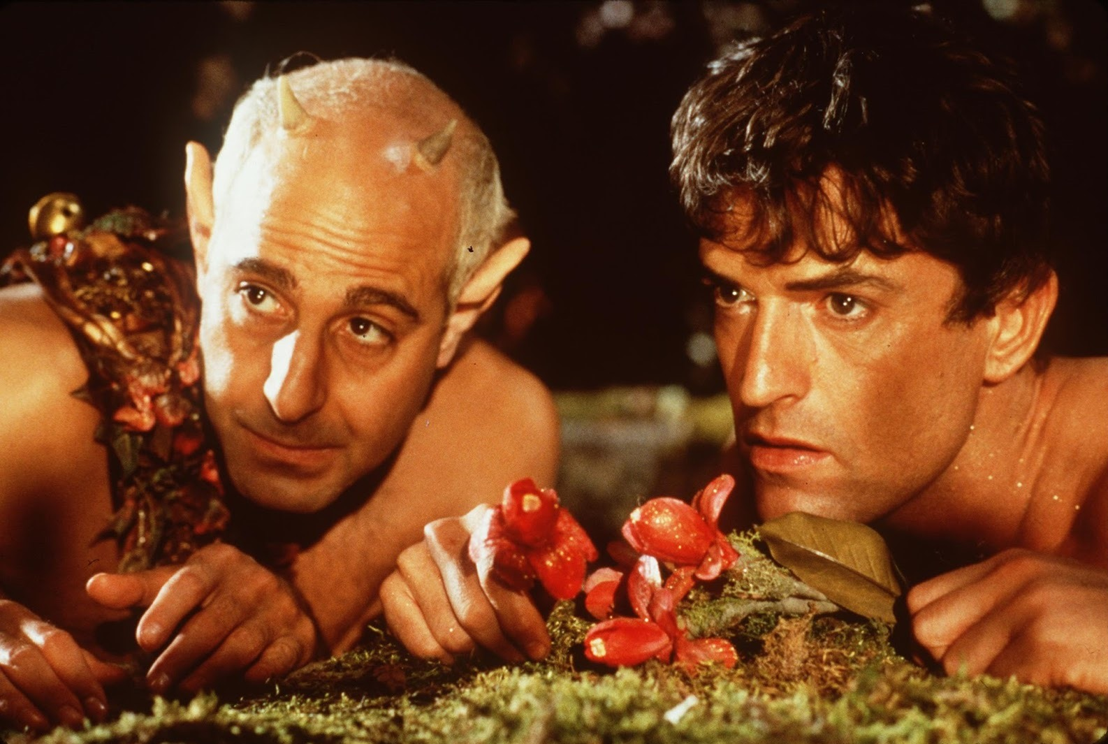 King Oberon (Rupert Everett) and his knave Puck (Stanley Tucci) in A Midsummer Night's Dream (1999)