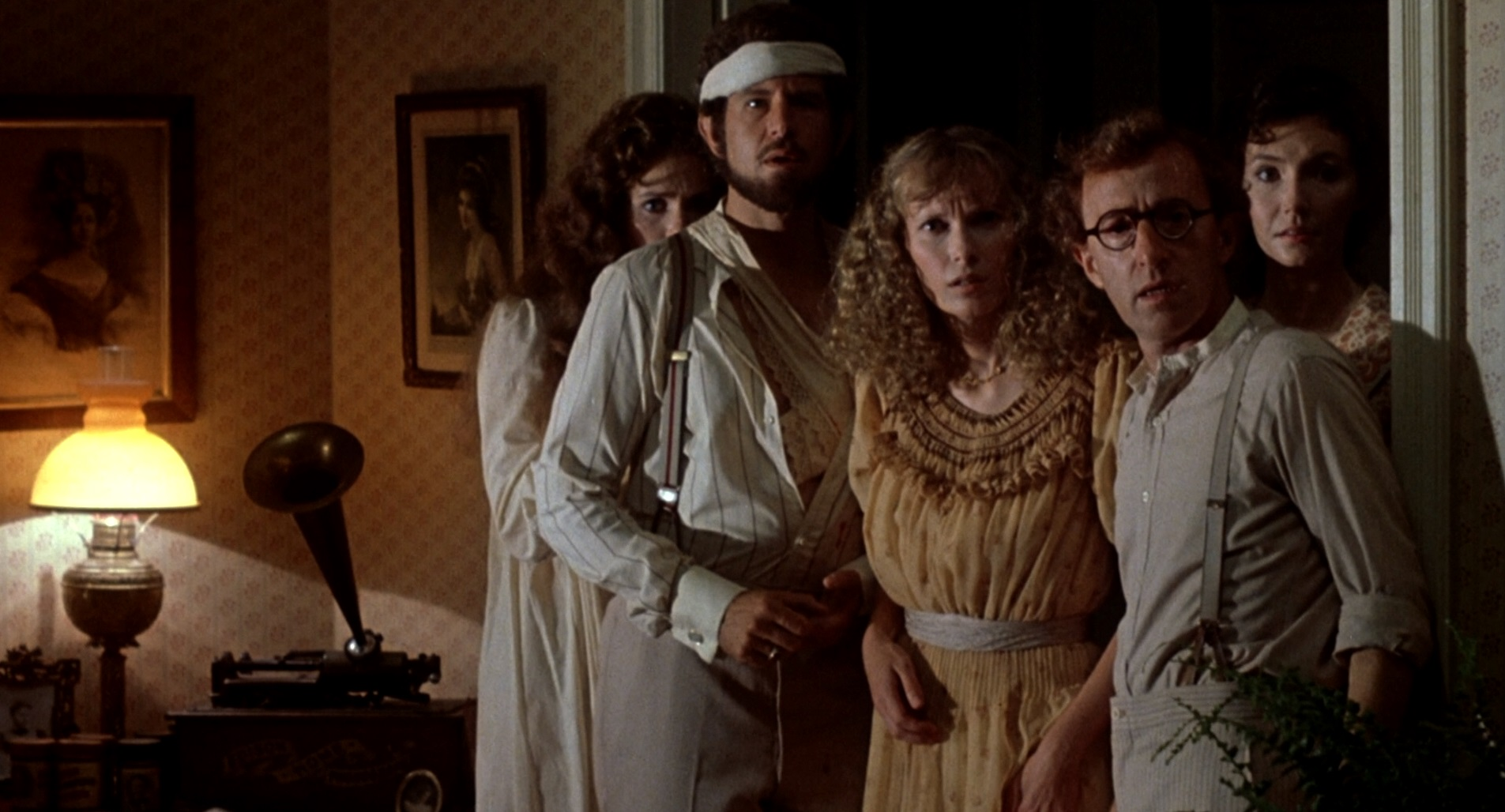 Julie Hagerty, Tony Roberts, Mia Farrow, Woody Allen, Mary Steenburgen in A Midsummer Night's Sex Comedy (1982)