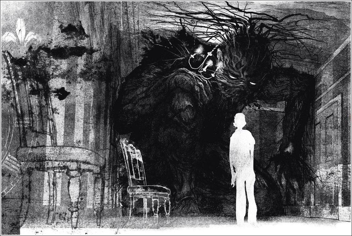 Jim Kay's original artwork in A Monster Calls (2016)