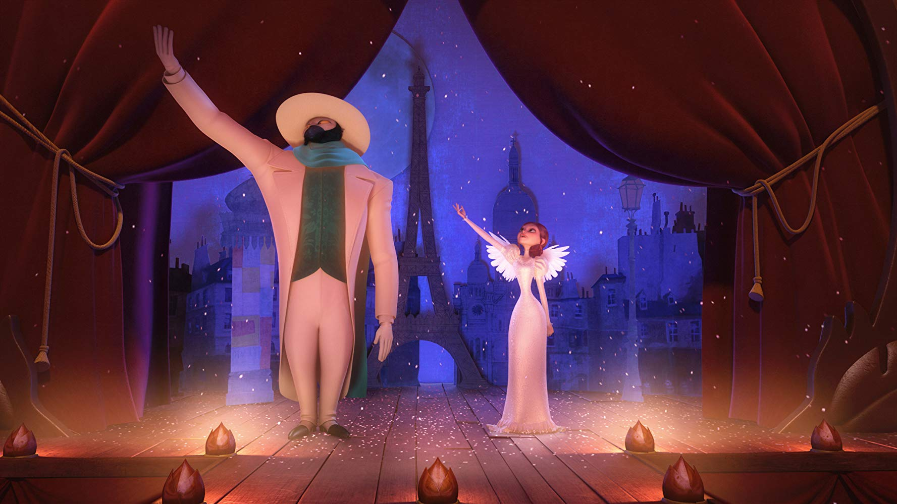 Francoeur and Lucille debut their singing act in A Monster in Paris (2011)