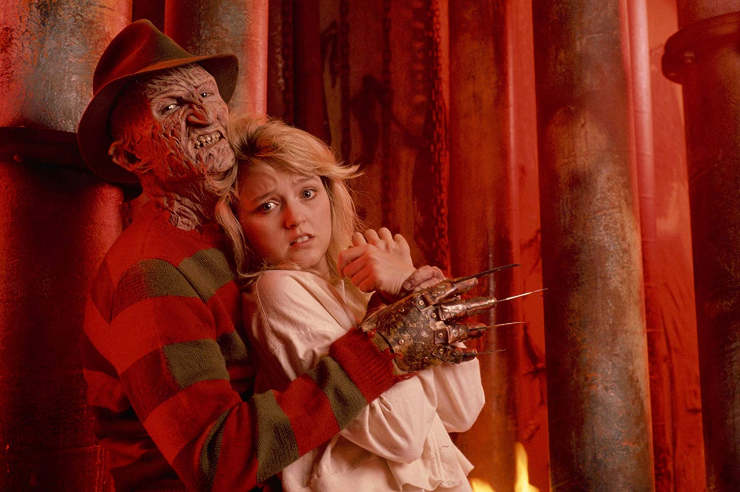 Freddy Krueger (Robert Englund) and Kristen Parer (Tuesday Knight) in A Nightmare on Elm Street IV: The Dream Master (1988)