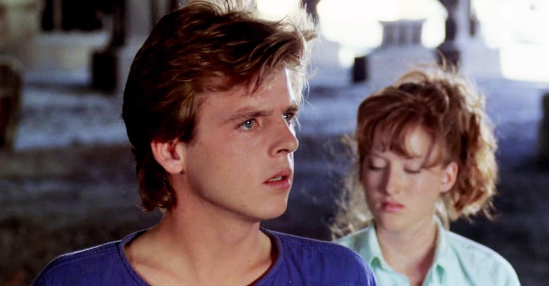 Jesse Walsh (Mark Patton) and Meryl Streep-lookalike girlfriend Kim Myers in A Nightmare on Elm Street Part II :Freddy's Revenge (1985)