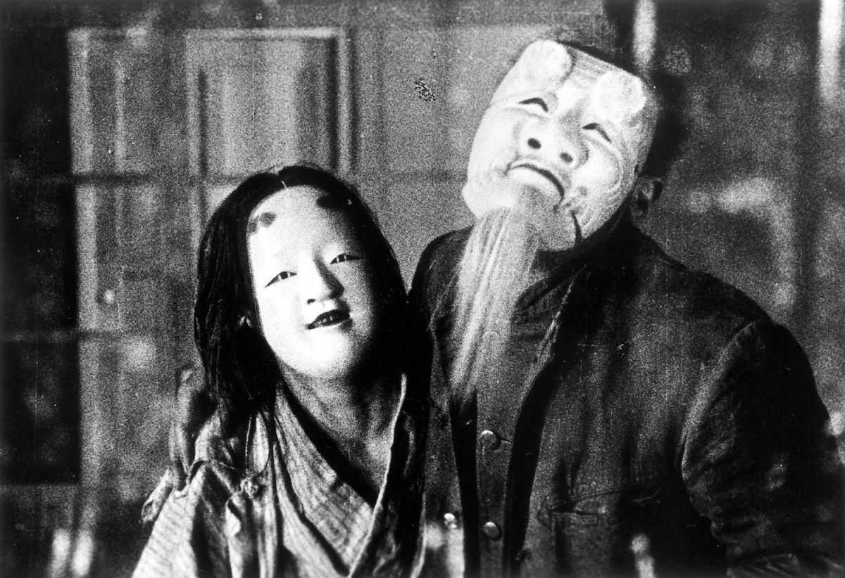 Inmates in Noh masks in A Page of Madness (1926)