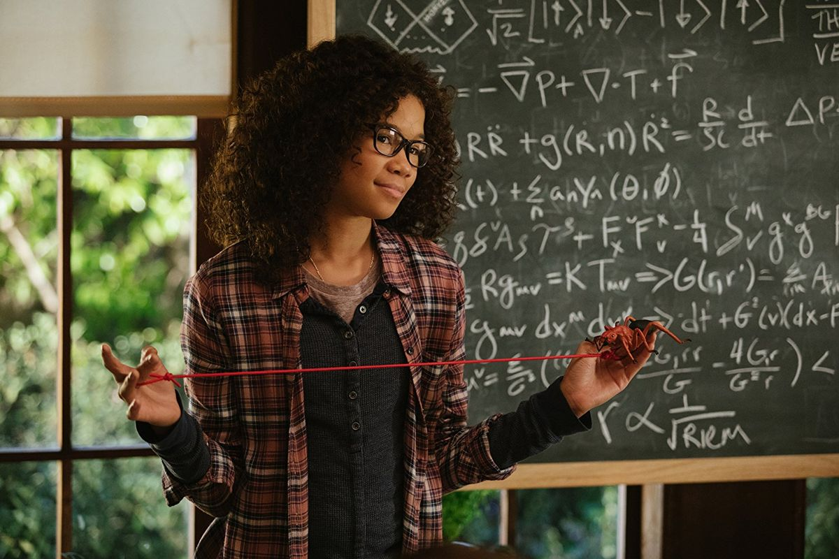 Storm Reid as Meg Murry, supposedly one of the great minds of our time in A Wrinkle in Time (2018)