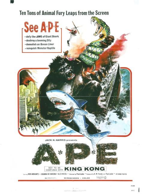A.P.E. (1976) poster