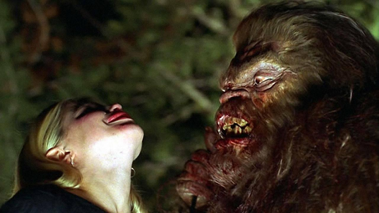 Bigfoot goes to take a bite Haley Joel's head off in Abominable (2006)