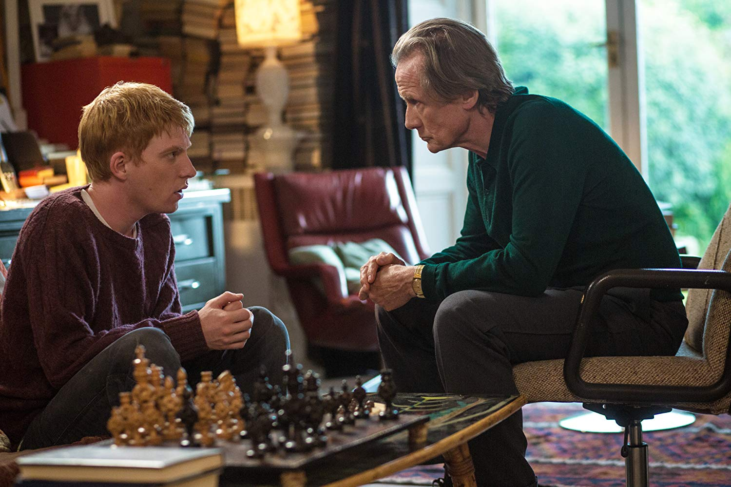 (l to r) Domhnall Gleeson and father Bill Nighy in About Time (2013)