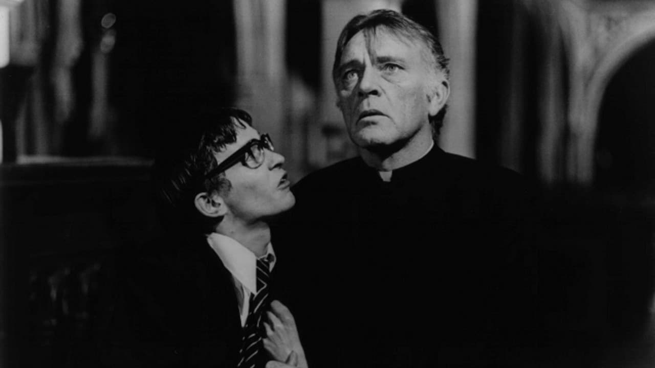 (l to r) Pupil Arthur Bryson (Dai Bradley) and the troubled Father Goddard (Richard Burton) in Absolution (1981)