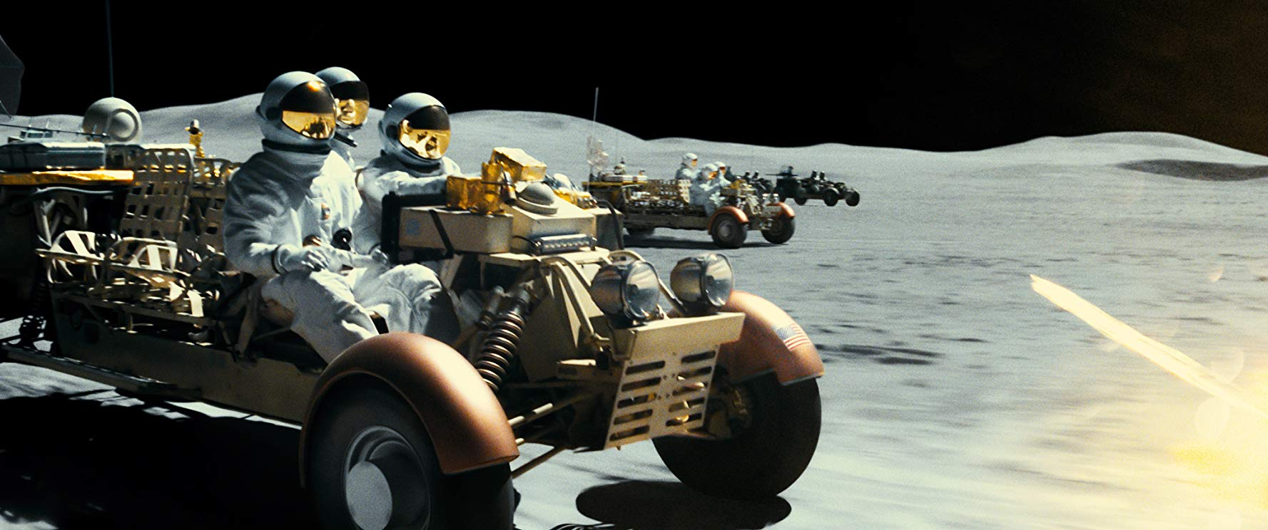 Vehicular chase with the pirates on The Moon in Ad Astra (2019)