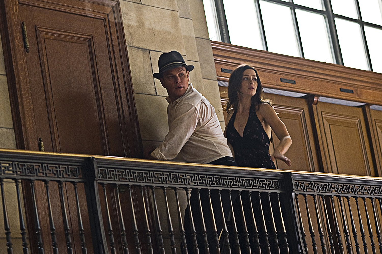 Matt Damon and Emily Blunt on the run from The Adjustment Bureau (2011)
