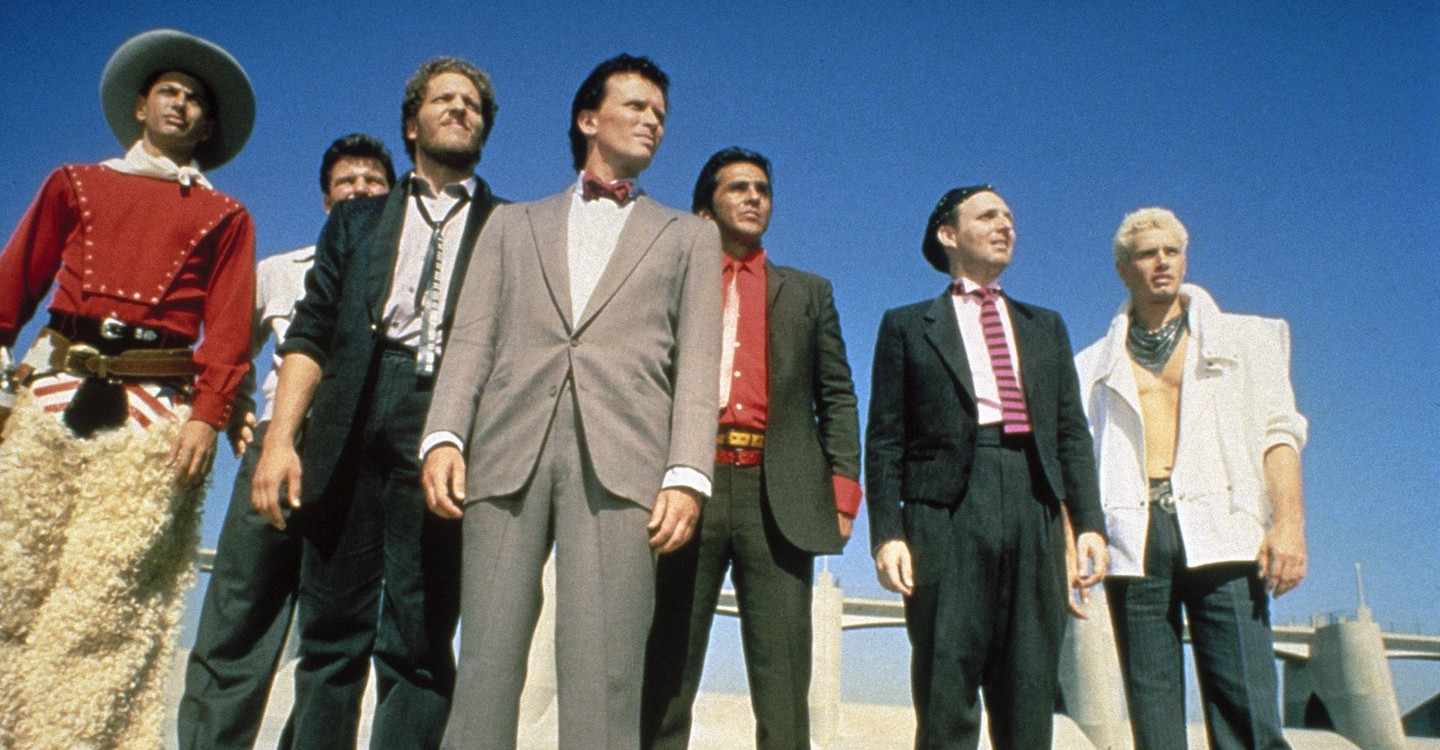 Jeff Goldblum, Clancy Brown, Peter Weller, Pepe Serna, Billy Vera, Lewis Smith in The Adventures of Buckaroo Banzai Across the 8th Dimension (1984)