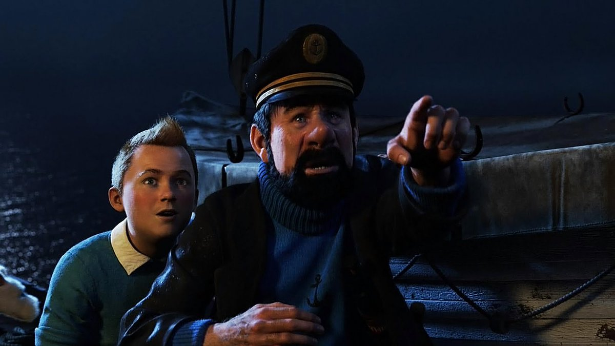 Tintin and Captain Haddock in The Adventures of Tintin (2011)