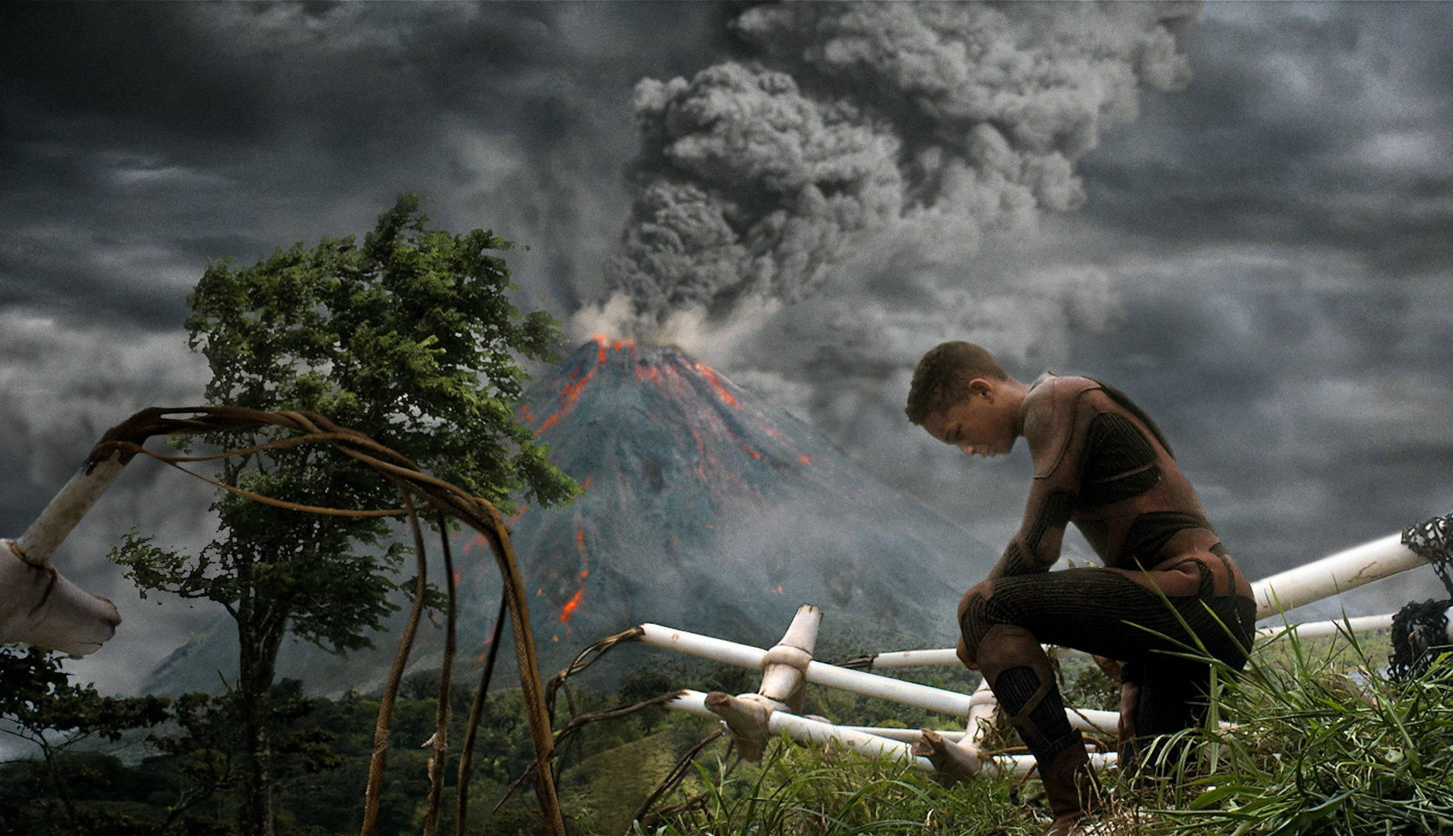 Jaden Smith - journeying across a primal landscape in After Earth (2013)