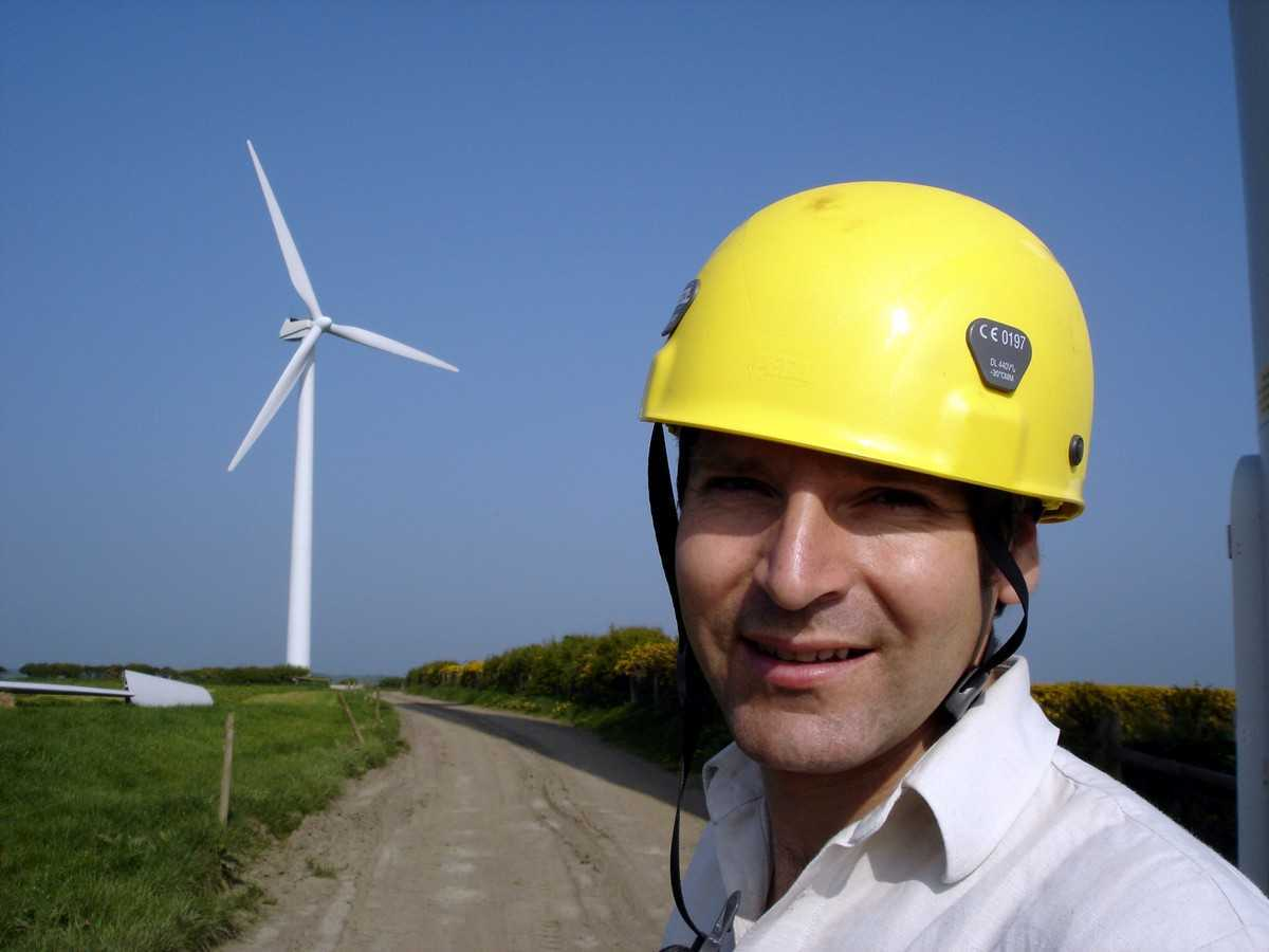Wind turbine builder Piers Guy in The Age of Stupid (2009)