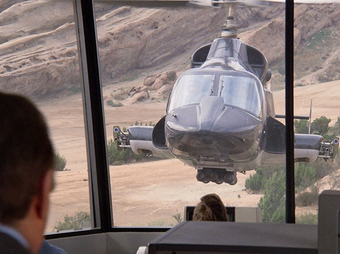 The Airwolf in action in Airwolf (1985)