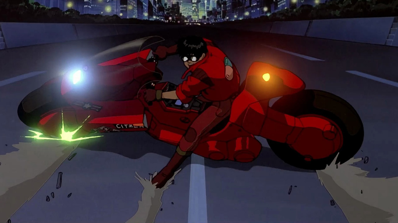 Tetsuo on motorcycle in Akira (1988)