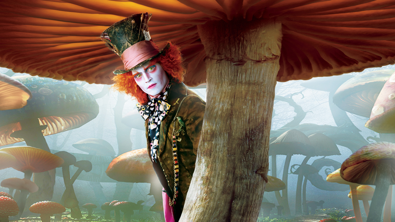 Johnny Depp as The Mad Hatter in Alice in Wonderland (2010) poster