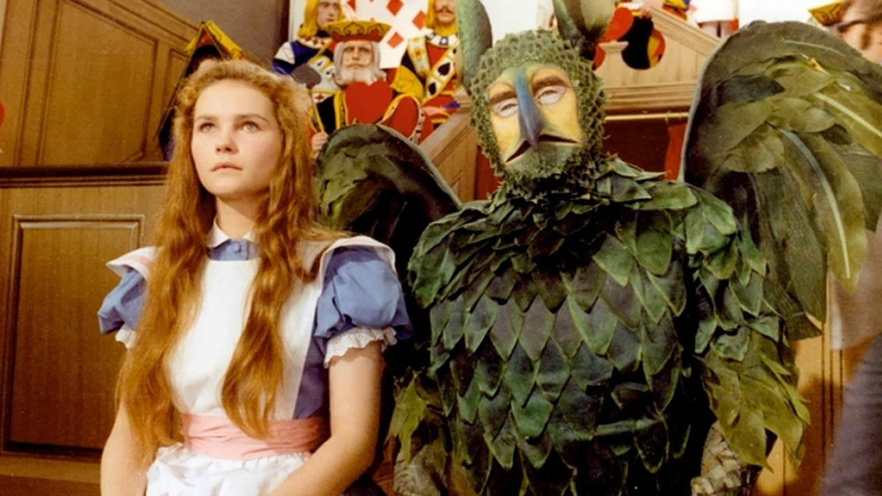 Alice (Fiona Fullerton) with The Gryphon (Spike Milligan) in Alice's Adventures in Wonderland (1972)