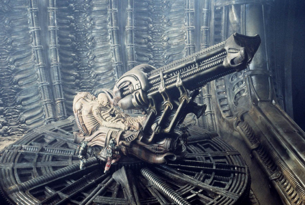 The Space Jockey in Alien (1979)