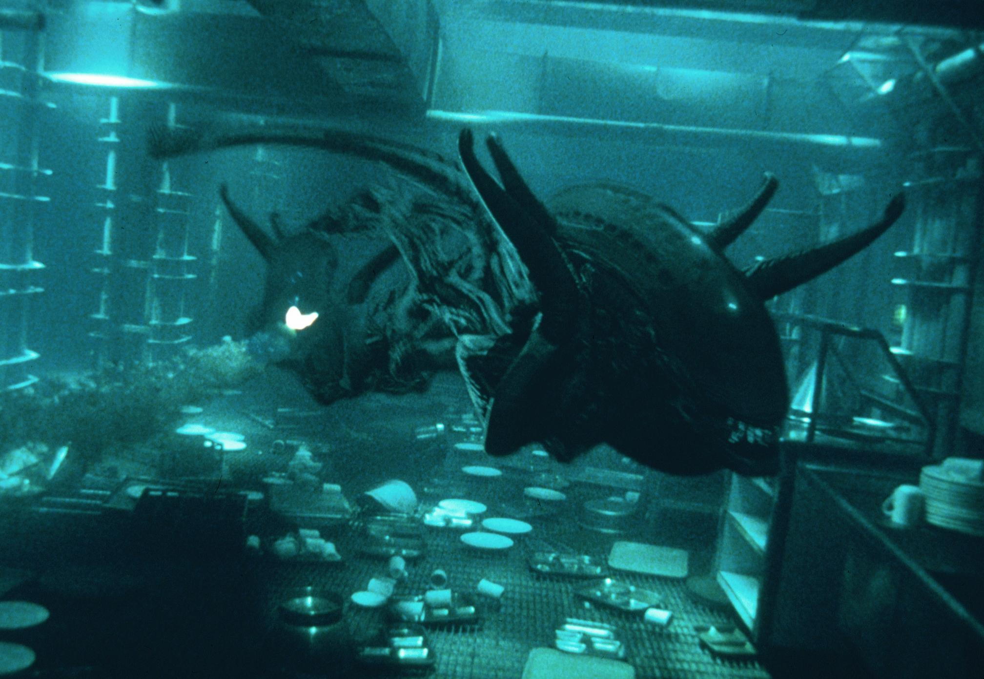 The Xenomorphs go swimming in Alien: Resurrection (1997)