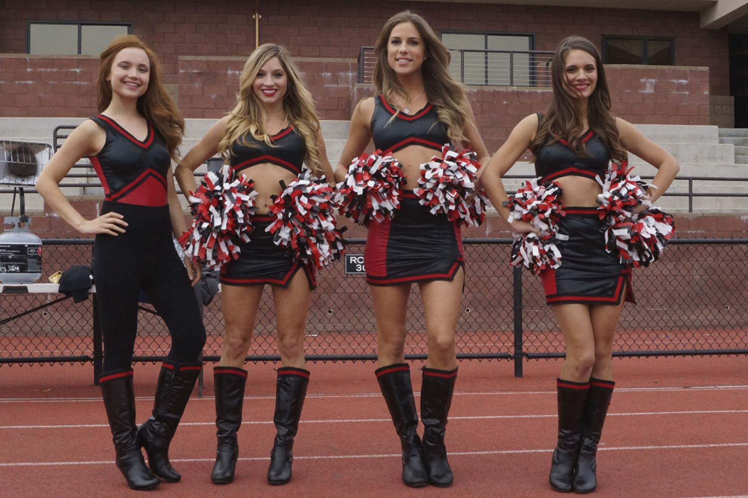 Amanda Grace Benitez, Brooke Butler, Reanin Johannink and Caitlin Stasey in All Cheerleaders Die (2013)