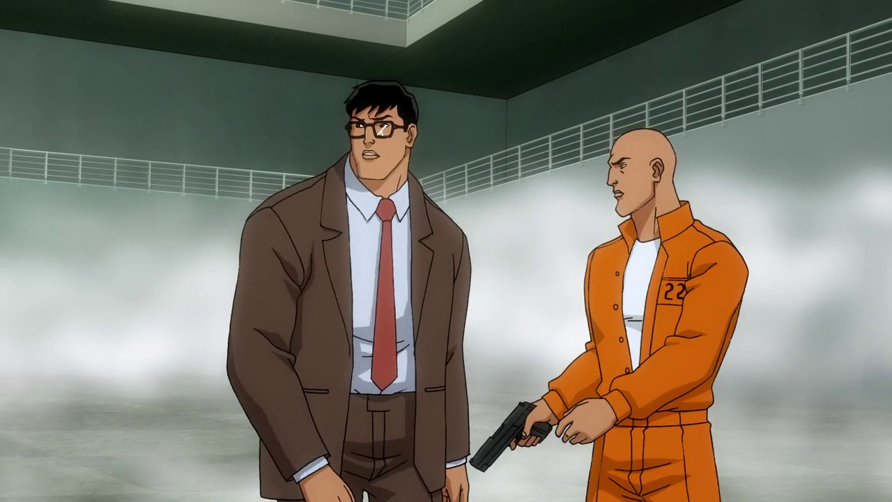 Clark Kent alongside Lex Luthor as he plans a jail break in All-Star Superman (2011)