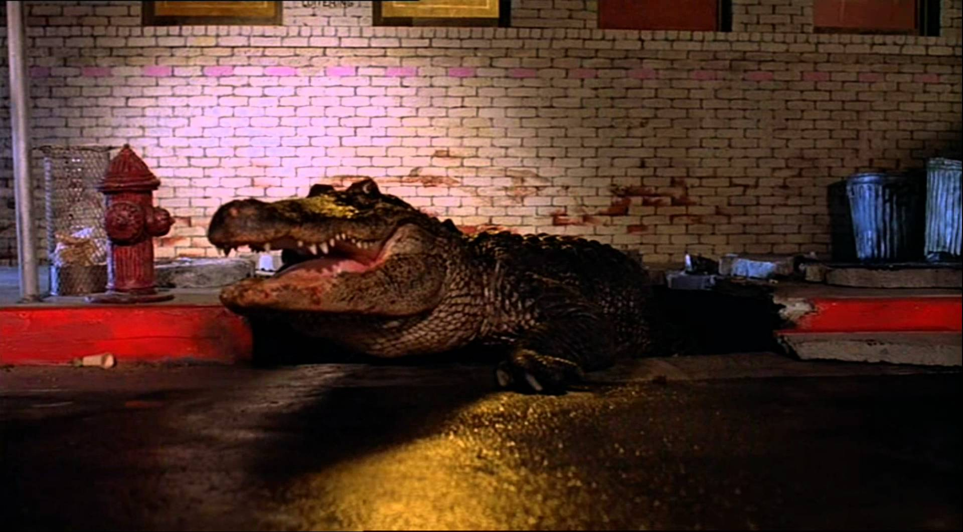 The alligator emerges from the sewers in Alligator (1980)