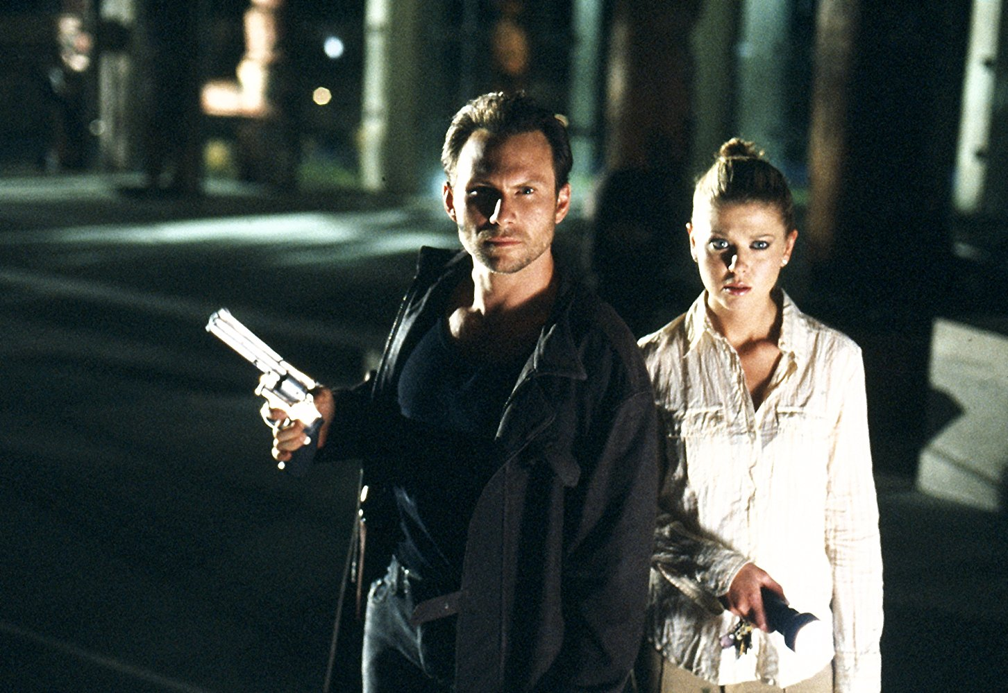 Christian Slater as Edward Carnby and Tara Reid as Aline Cedrac in Alone in the Dark (2005)