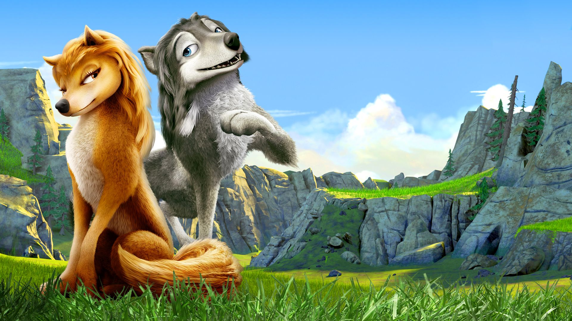 Love among the wolves - Kate (voiced by Hayden Panettiere) and Humphrey (voiced by Justin Long) in Alpha and Omega (2010)